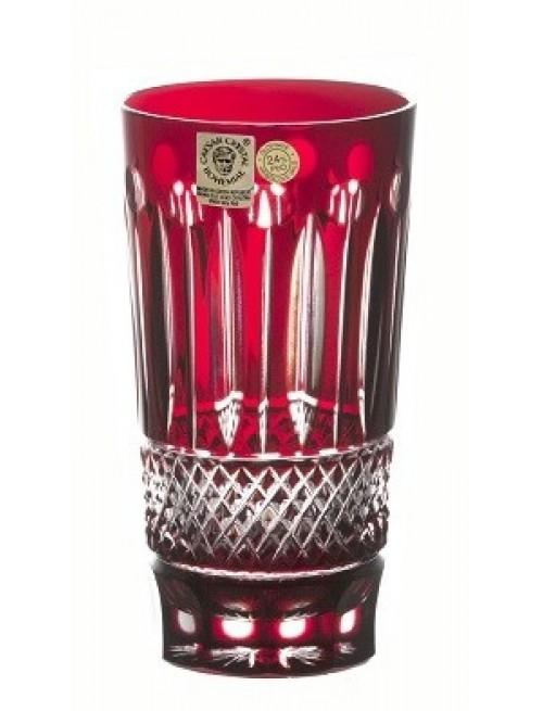 Bicchiere Tomy, cristallo, colore rosso, volume 320 ml