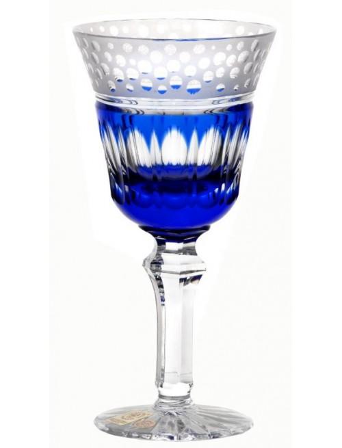 Bicchiere Dalmata, cristallo, colore blu, volume 240 ml