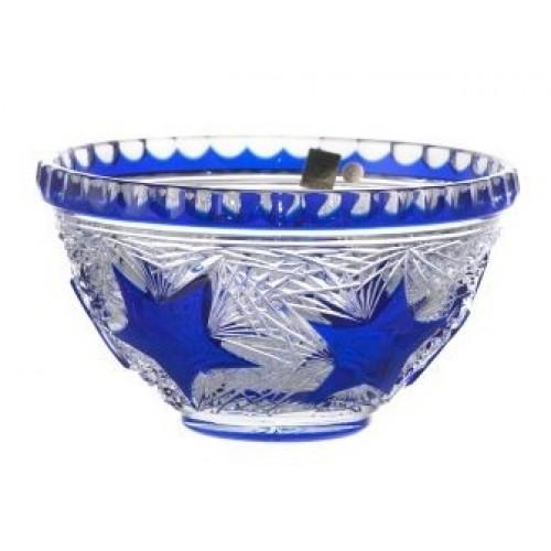 Insalatiera Stella, cristallo, colore blu, diametro 210 mm
