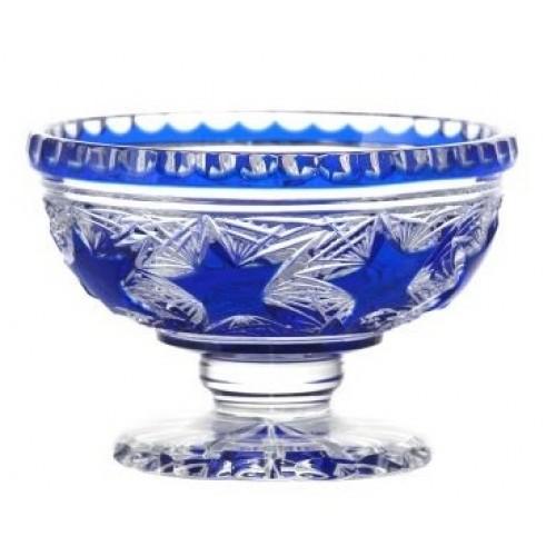 Portafrutta Stella, cristallo, colore blu, diametro 155 mm