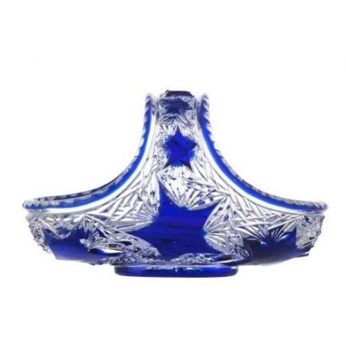 Cesto Stella, cristallo, colore blu, diametro 230 mm