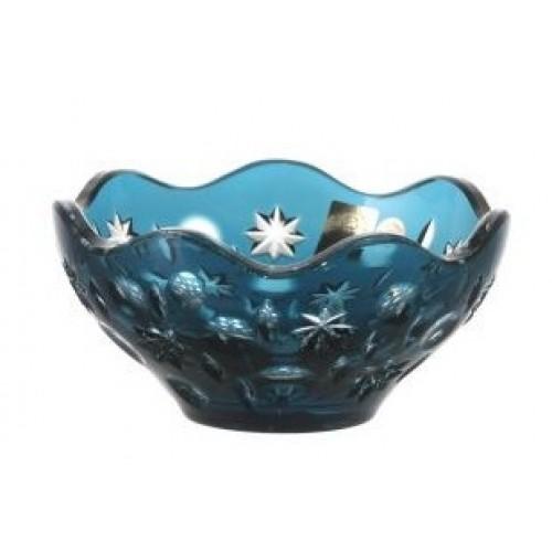 Ciotola Lira, cristallo, colore azzurro, diametro 130 mm