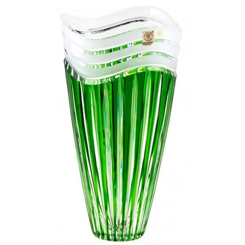 Vaso Dune, cristallo, colore verde, altezza 270 mm