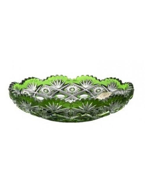 Piatto Daniel, cristallo, colore verde, diametro 145 mm