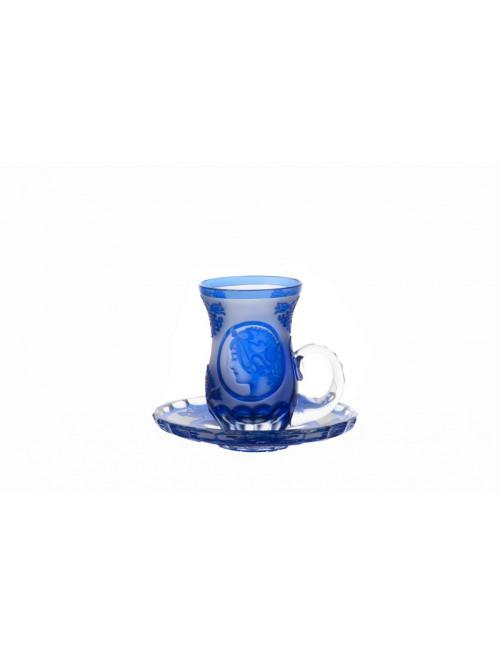 Set Mucha 2+2, cristallo, colore blu, volume 100 ml