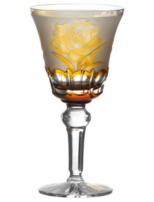 Bicchiere Sakura, cristallo, colore ambra, volume 180 ml