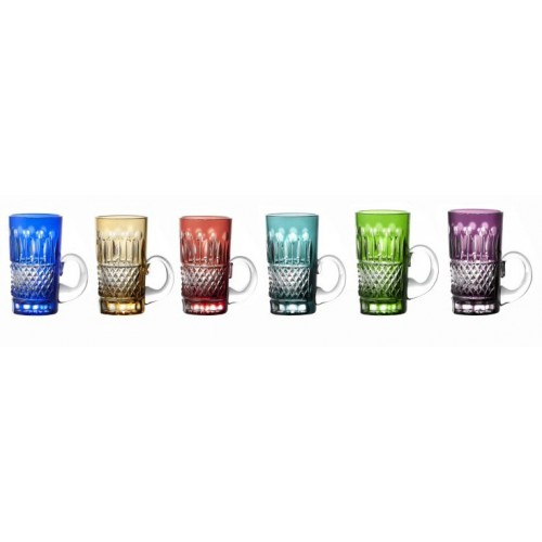 Set tazze Tomy 6x, cristallo, multicolore, volume 100 ml