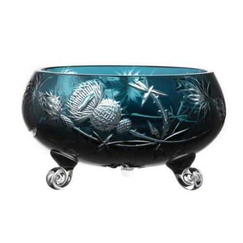 Insalatiera Thistle, cristallo, colore azzurro, diametro 230 mm