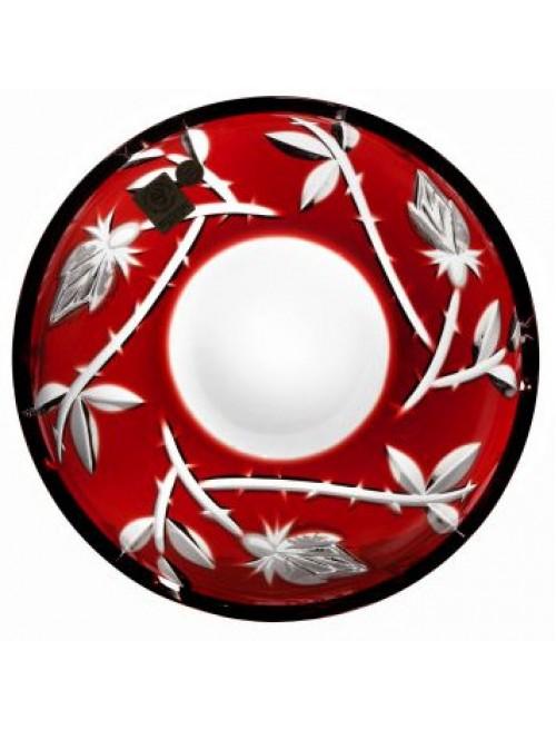 Piatto Rose, cristallo, colore rosso, diametro 180 mm