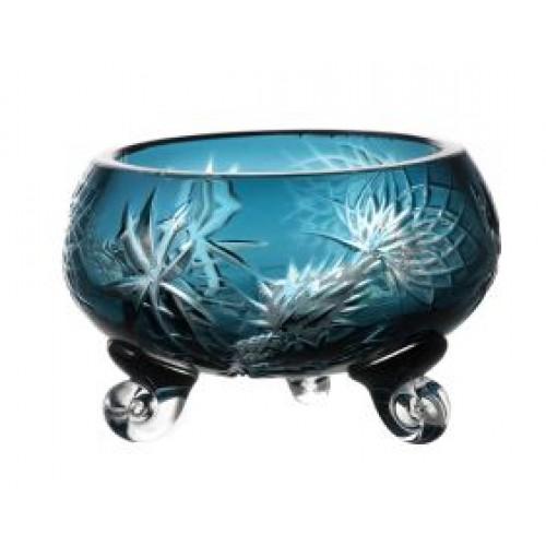 Ciotola Thistle, cristallo, colore azzurro, diametro 114 mm
