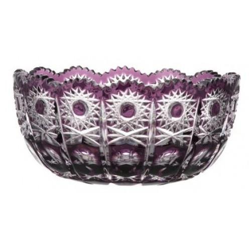 Insalatiera Petra, cristallo, colore viola, diametro 155 mm