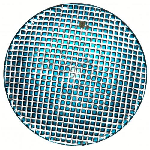 Piatto Karo, cristallo, colore azzurro, diametro 350 mm