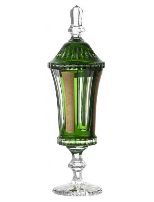 Coppa Romance, cristallo, colore verde, altezza 390 mm