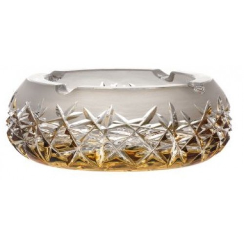 Portacenere Hoarfrost, cristallo, colore ambra, diametro 155 mm