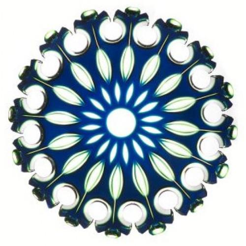 Piatto Flamenco, cristallo, colore blu, diametro 350 mm