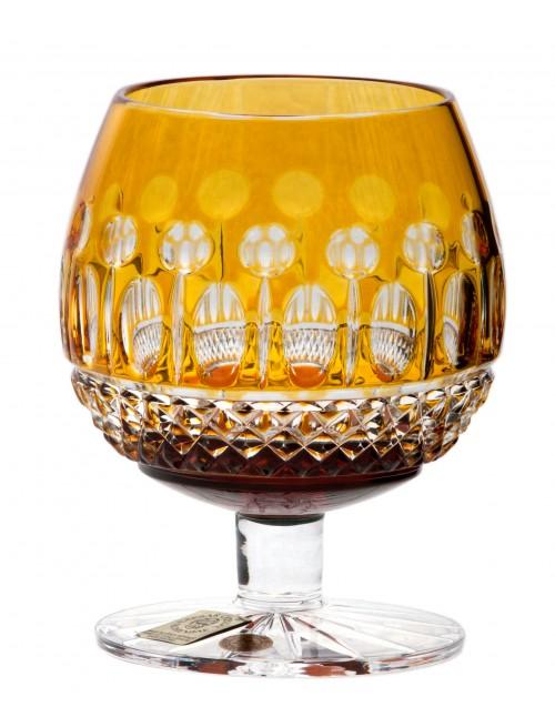 Bicchiere Brandy Tomy, cristallo, colore ambra, volume 230 ml