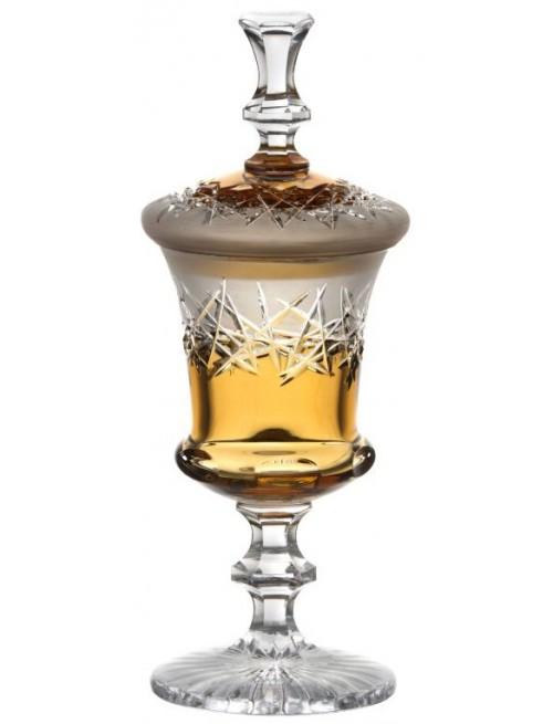 Coppa Hoarfrost, cristallo, colore ambra, altezza 395 mm