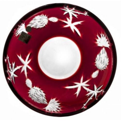 Piatto Thistle, cristallo, colore rosso, diametro 181 mm