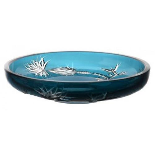 Piatto Thistle, cristallo, colore azzurro, diametro 181 mm