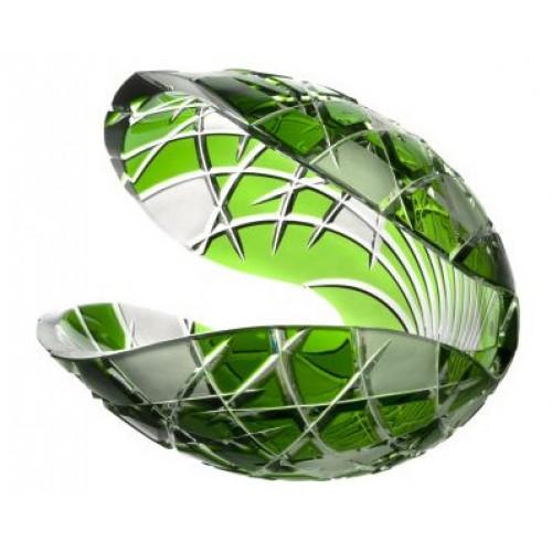 Conchiglia Mars, cristallo, colore verde, diametro 280 mm
