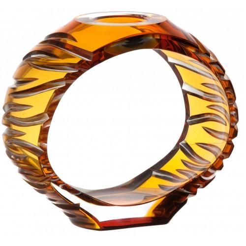 Portacandela Ara, cristallo, colore ambra, altezza 165 mm