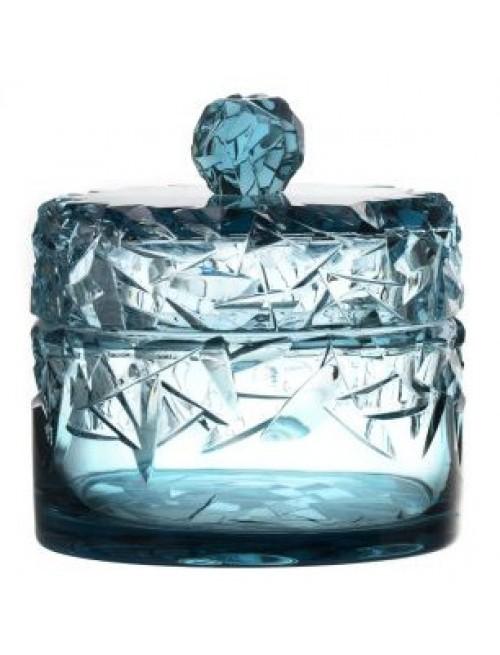 Confettiera, cristallo, colore azzurro, altezza 195 mm