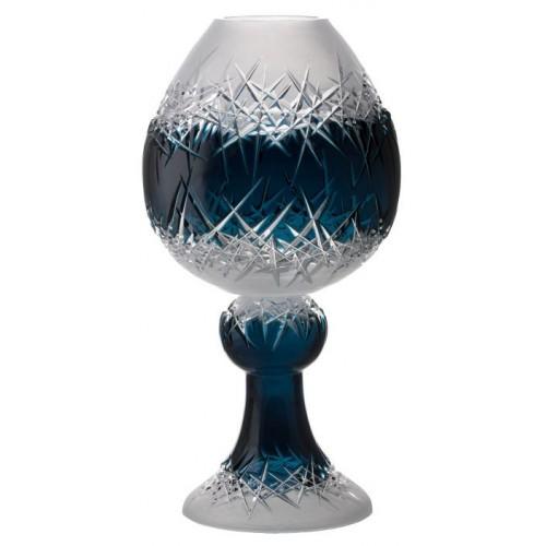 Vaso Hoarfrost, cristallo, colore azzurro, altezza 560 mm
