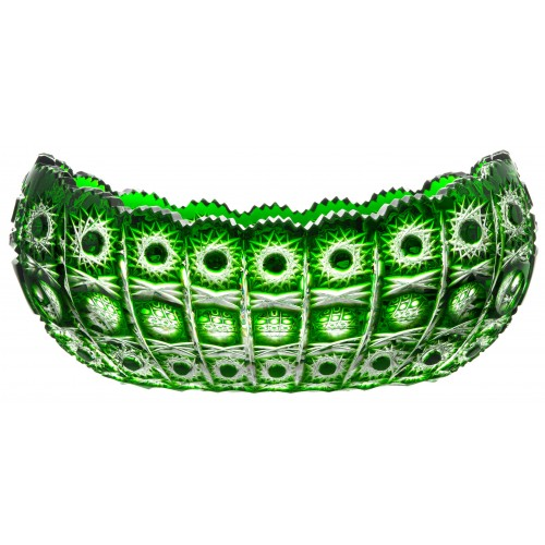 Insalatiera Petra, cristallo, colore verde, diametro 305 mm