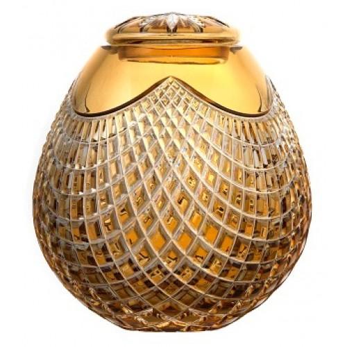 Urna Quadrus, cristallo, colore ambra, altezza 230 mm