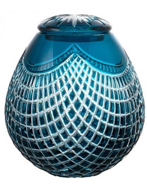 Urna Quadrus, cristallo, colore azzurro, altezza 230 mm