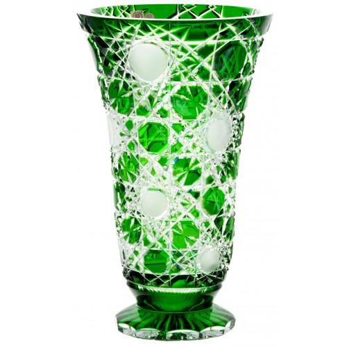 Vaso Flake, cristallo, colore verde, altezza 305 mm