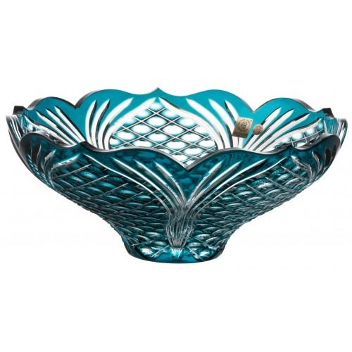 Insalatiera Ankara, cristallo, colore azzurro, diametro 275 mm