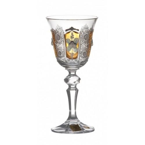 Bicchiere Laura 500PK, cristallo trasparente dipinto oro, volume 130 ml