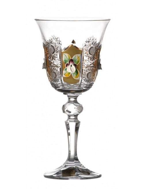 Bicchiere Laura 500PK, cristallo trasparente dipinto oro, volume 170 ml