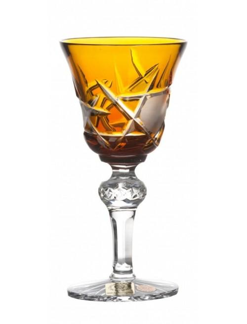 Bicchiere Mars, cristallo, colore ambra, volume 50 ml