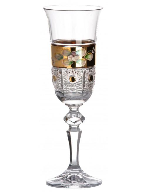 Bicchiere 500K Oro, cristallo trasparente dipinto oro, volume 150 ml