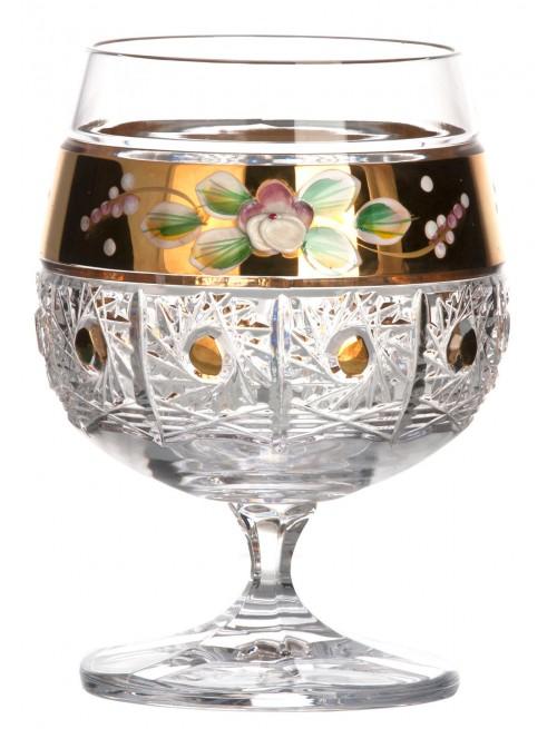 Bicchiere brandy 500K Oro, cristallo trasparente dipinto oro, volume 250 ml