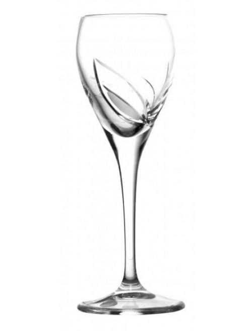 Bicchiere Foglie, cristallo trasparente, volume 90 ml