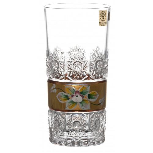 Bicchiere 500PK, cristallo trasparente dipinto oro, volume 350 ml