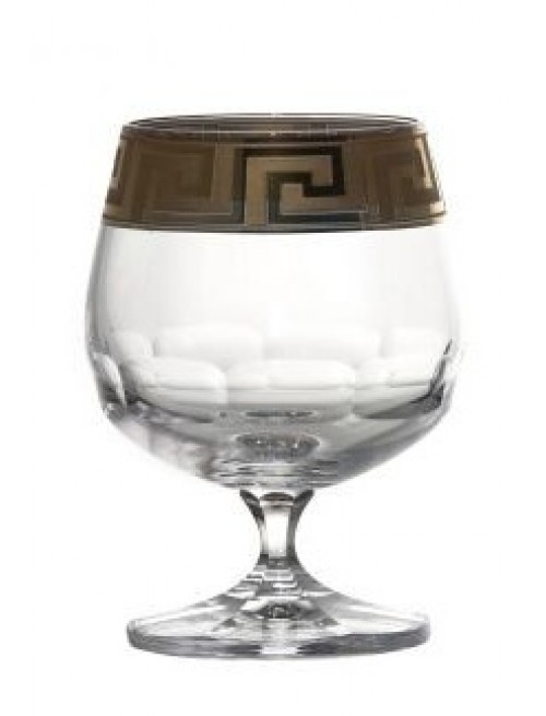 Bicchiere Brandy, cristallo trasparente dipinto oro - opaco, volume 250 ml