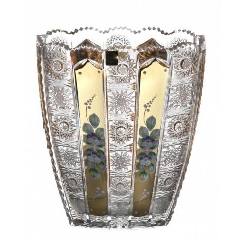 Vaso 500PK, cristallo trasparente dipinto oro, altezza 255 mm