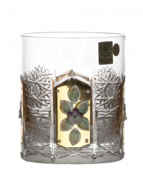 Bicchiere 500PK, cristallo trasparente dipinto oro, volume 320 ml
