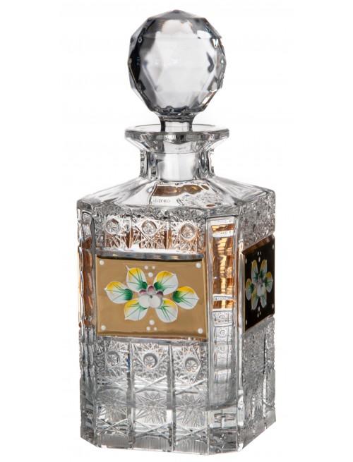 Bottiglia 500PK, cristallo trasparente dipinto oro, volume 800 ml
