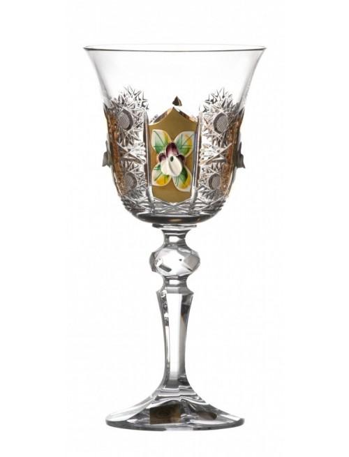 Bicchiere, cristallo trasparente dipinto oro, volume 170 ml