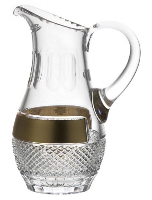 Brocca Oro, cristallo trasparente, volume 1500 ml