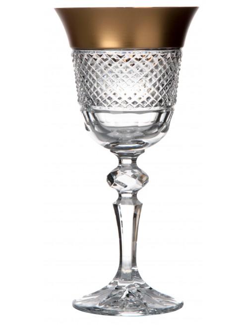 Bicchiere Oro, cristallo trasparente dipinto oro, volume 170 ml
