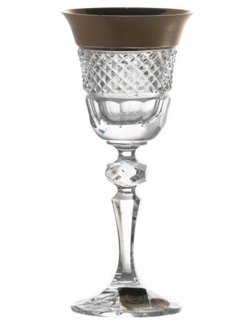 Bicchiere Oro, cristallo trasparente dipinto oro, volume 60 ml