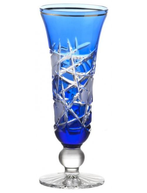 Bicchiere Mars, cristallo, colore blu, volume 150 ml