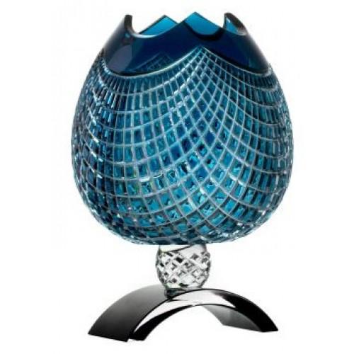 Vaso Quadrus, cristallo, colore azzurro, altezza 316 mm