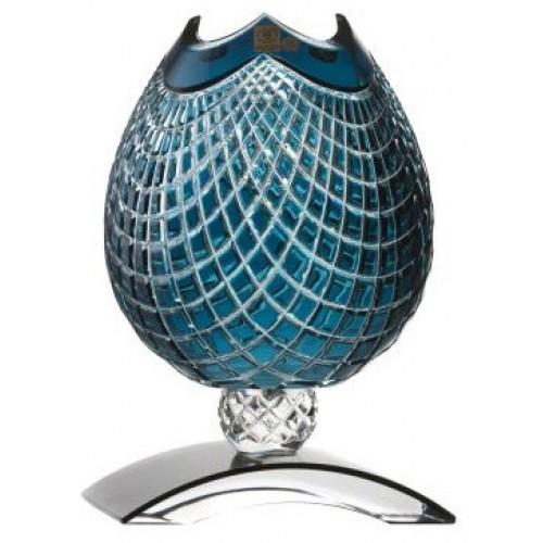 Vaso Quadrus, cristallo, colore azzurro, altezza 181 mm